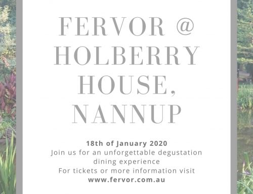 Fervor Pop Up dining experience